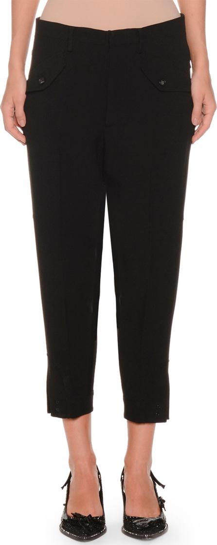 Nº21 Cropped Skinny-Leg Crepe Trousers