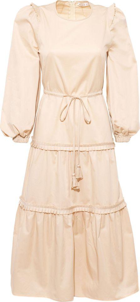 Anna Mason Christy Cotton Sateen Midi Dress
