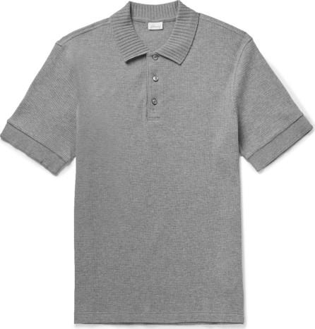 Brioni Waffle-Knit Cotton Polo Shirt