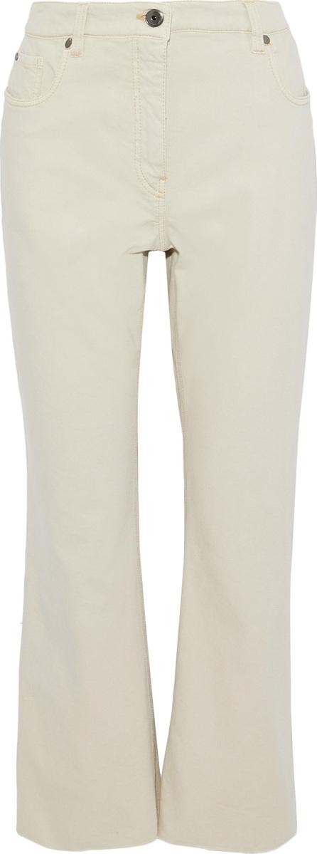 Brunello Cucinelli High-rise kick-flare jeans