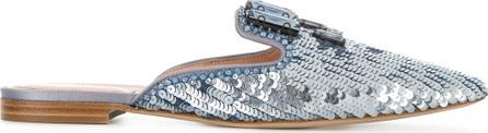 Alberta Ferretti Brocade loafer mules