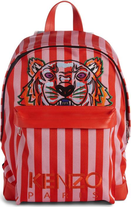 KENZO Kanvas Embroidered Tiger Stripe Backpack