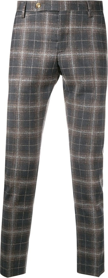 Entre Amis Plaid tailored trousers