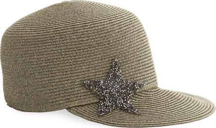 Marzi Star Embellished Woven Cap