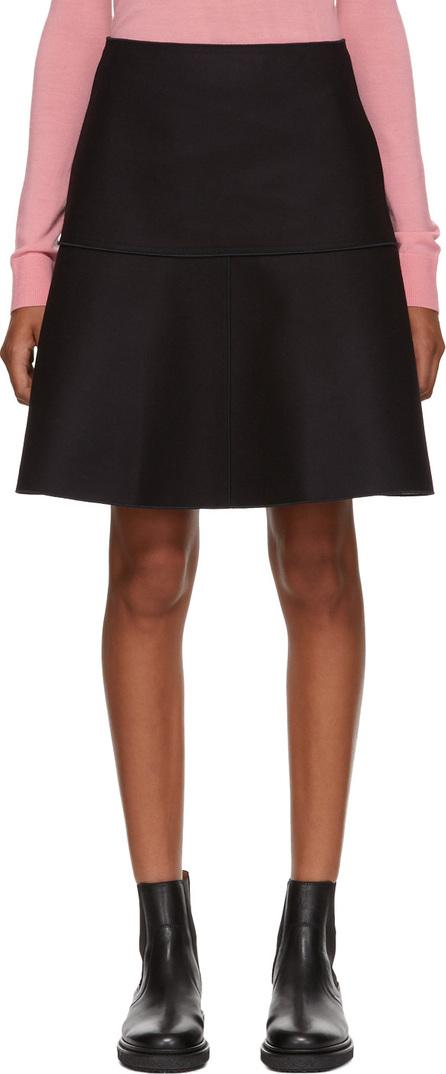 Jil Sander Navy Navy Wool Felt Skirt
