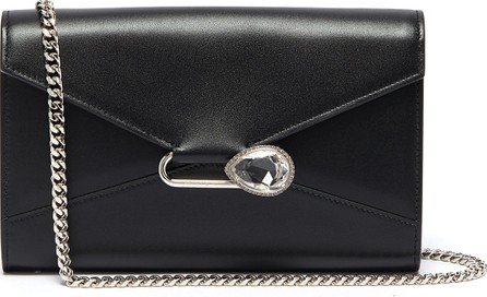 Alexander McQueen Pin leather chain wallet