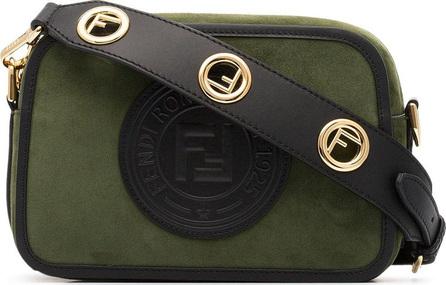 Fendi Green logo stamp suede cross-body bag