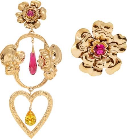Rodarte Flower asymmetric gold-plated earrings