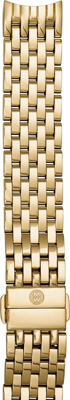 MICHELE 18K Gold-Plated 18mm Seven-Link Bracelet Strap
