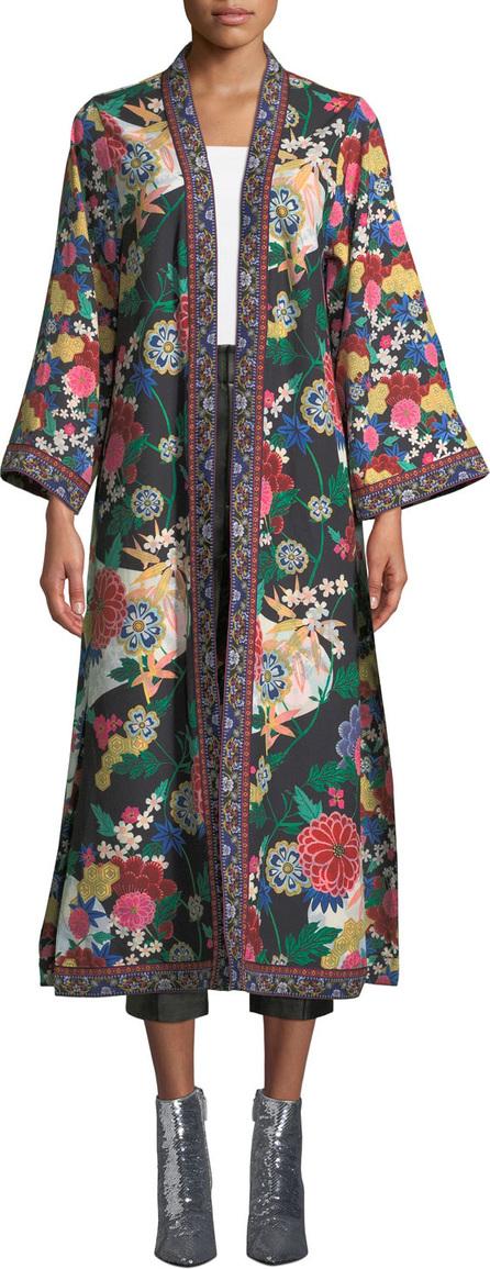 Alice + Olivia Lynn Side-Slit Long Kimono