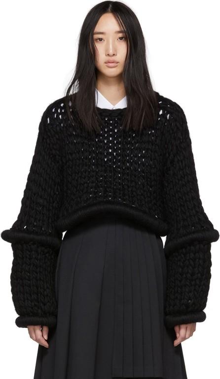 Noir Kei Ninomiya Black Round Articulations Sweater