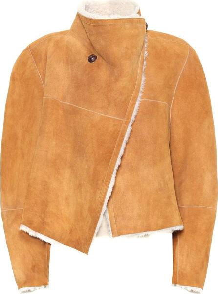Isabel Marant Shearling-lined suede jacket