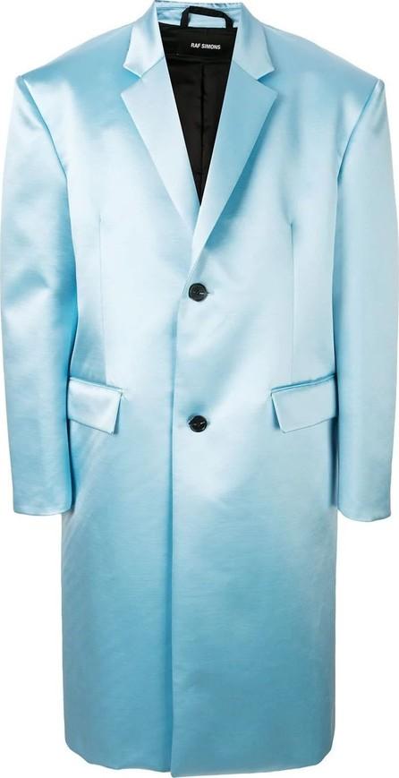 Raf Simons Blue shiny tailored coat