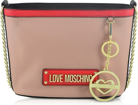 Love Moschino Powder Pink Chain Bucket Bag