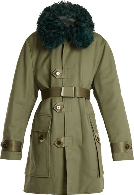 Acne Studios Cornel shearling-collar cotton-canvas coat