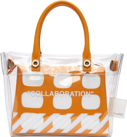 Heron Preston Transparent Off-White Edition 'Collaboration' Duffle Bag