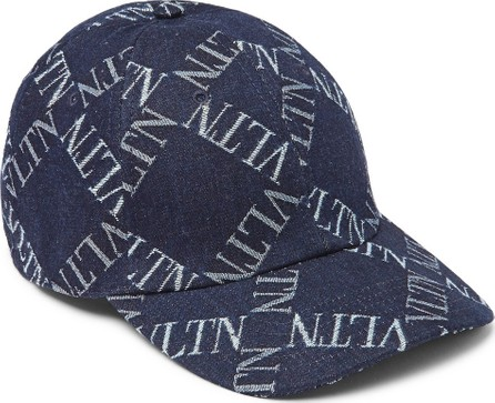 Valentino Valentino Garavani Logo-Jacquard Denim Baseball Cap