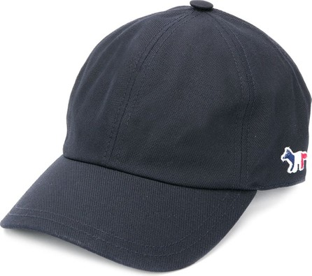 Maison Kitsune Fox-patch cap