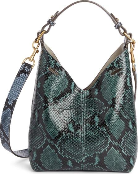 Anya Hindmarch Mini Build a Bag Snake Embossed Leather Base Bag