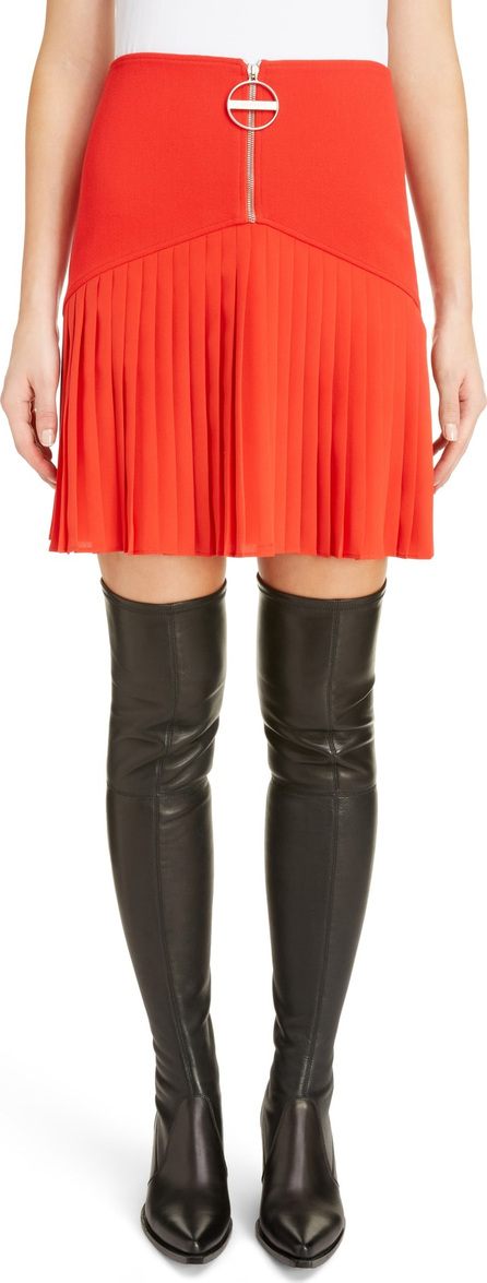 Givenchy Front Zip Pleated Miniskirt