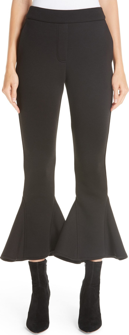 Beaufille Ruffle Bell Bottom Neoprene Pants