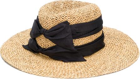 Misa Harada Double bow fedora hat