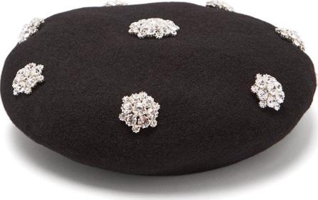 Benoît Missolin Crystal-embellished wool beret