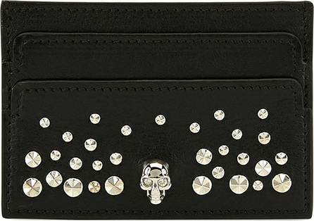Alexander McQueen Skull Studded Card Holder