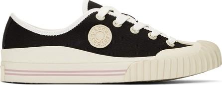 Acne Studios Blå Konst Black Blå Konst Tennis Sneakers