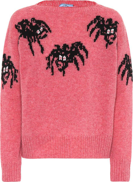 Prada Spider intarsia virgin wool sweater