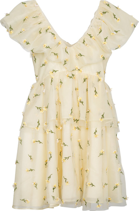 Ganni Ruffle Tiered Floral Mini Dress