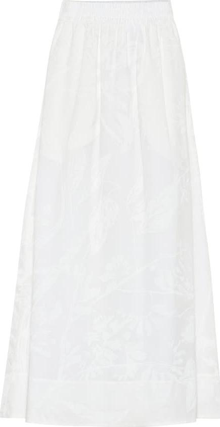 Agnona Printed cotton maxi skirt