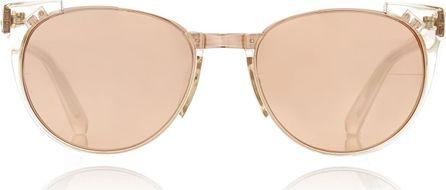 Linda Farrow Rose-Gold Tone Acetate Sunglasses