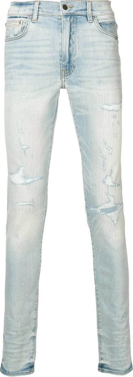 Amiri Light blue distressed skinny jeans