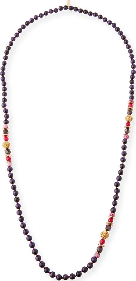 Akola Plum Beaded Single-Strand Necklace