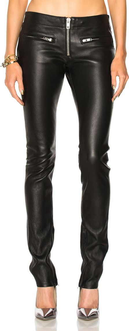 Adaptation Zip Skinny Leather Pant