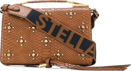 Stella McCartney Studded logo strap satchel