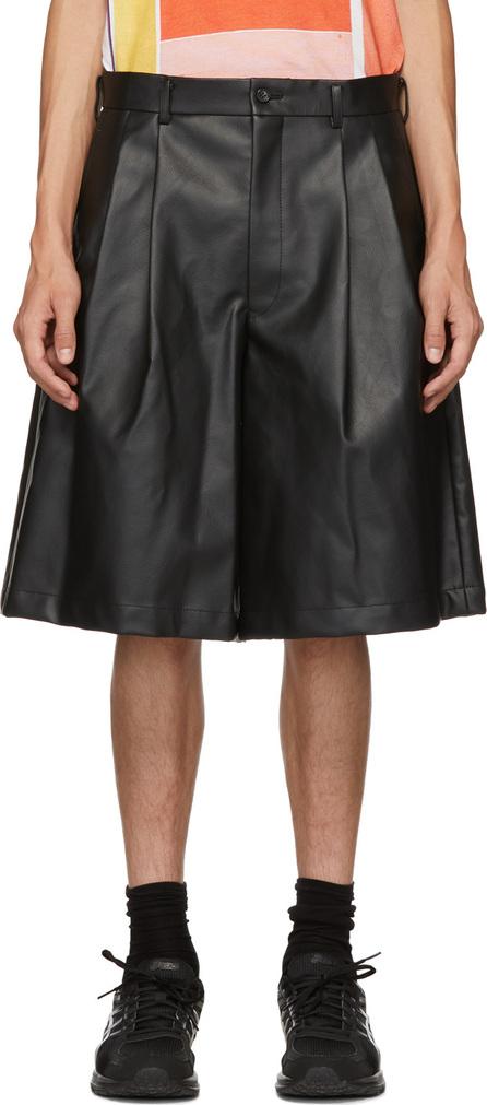 Comme Des Garçons Homme Plus Black Faux-Leather Shorts