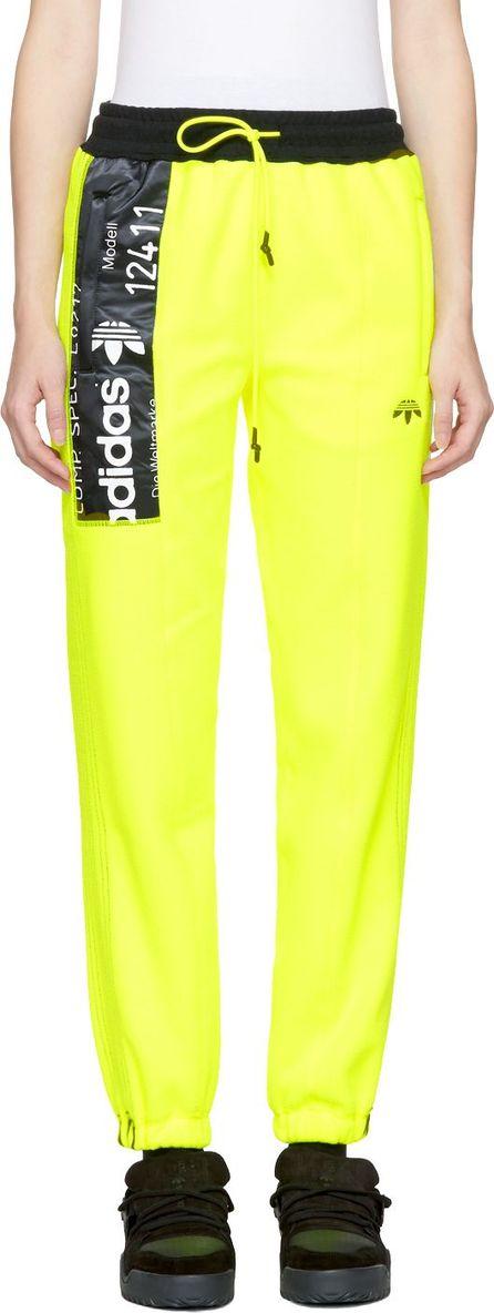 Adidas Originals by Alexander Wang Yellow Polar Fleece Jogger Pants