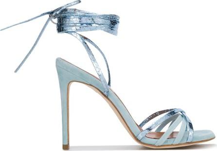 Paris Texas Metallic ankle tied sandals