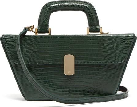 Hillier Bartley Cassette lizard-effect leather bag