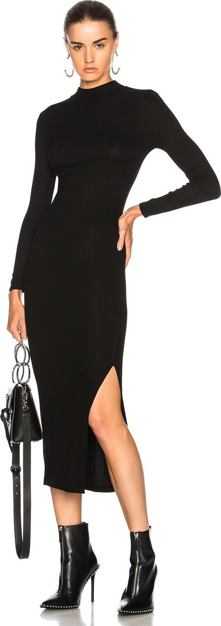 ENZA COSTA Rib Turtleneck Dress