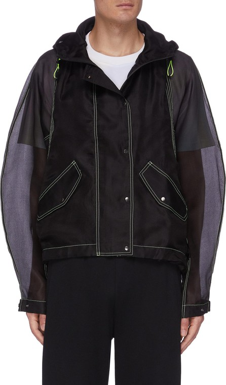 Angel Chen Logo Embroidered Panel Jacket