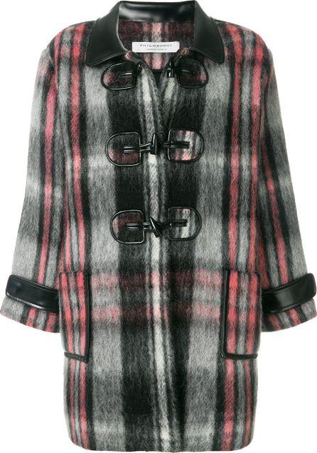 Philosophy Di Lorenzo Serafini checked oversized coat