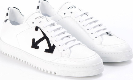 Off White Arrow Leather Sneakers