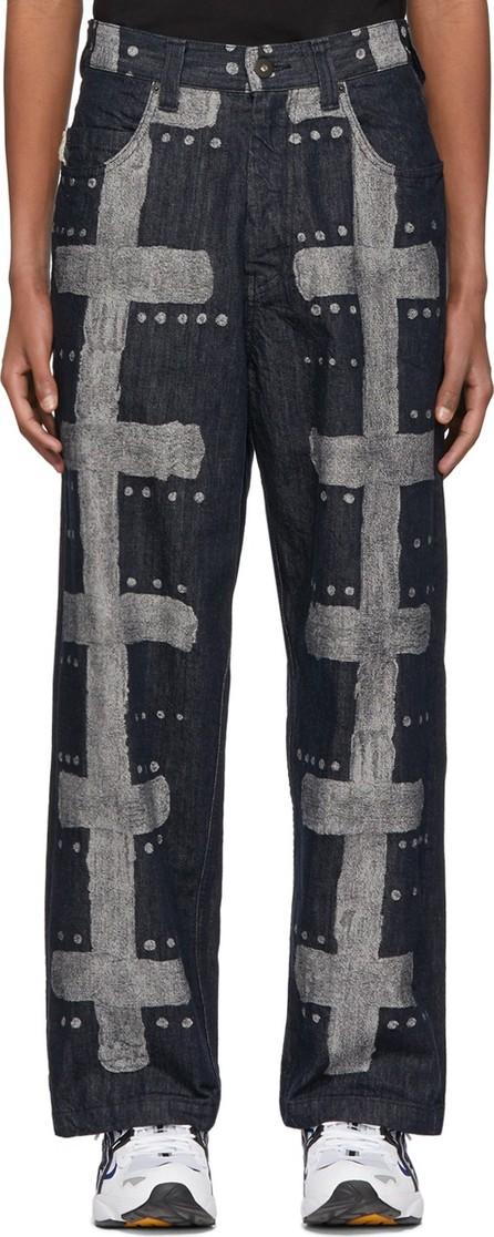 Homme Plissé Issey Miyake Navy A-POC Inside Jeans