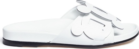 Anya Hindmarch 'Circulus' geometric circus leather slide sandals