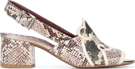 Antonio Marras snakeskin effect sling-back sandals