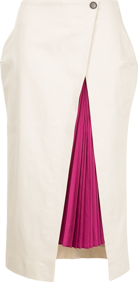 Aalto Pleated detail side slit skirt