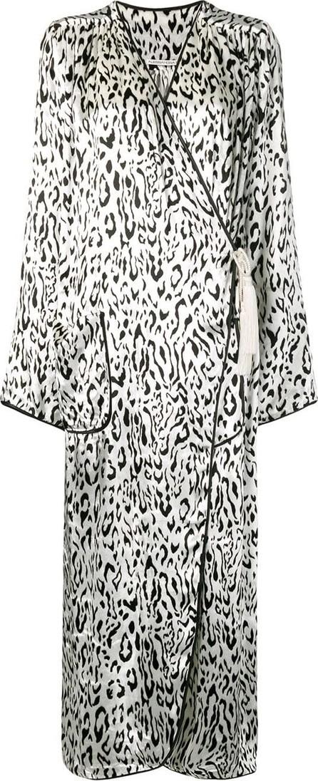 Alessandra Rich Leopard wrap dress